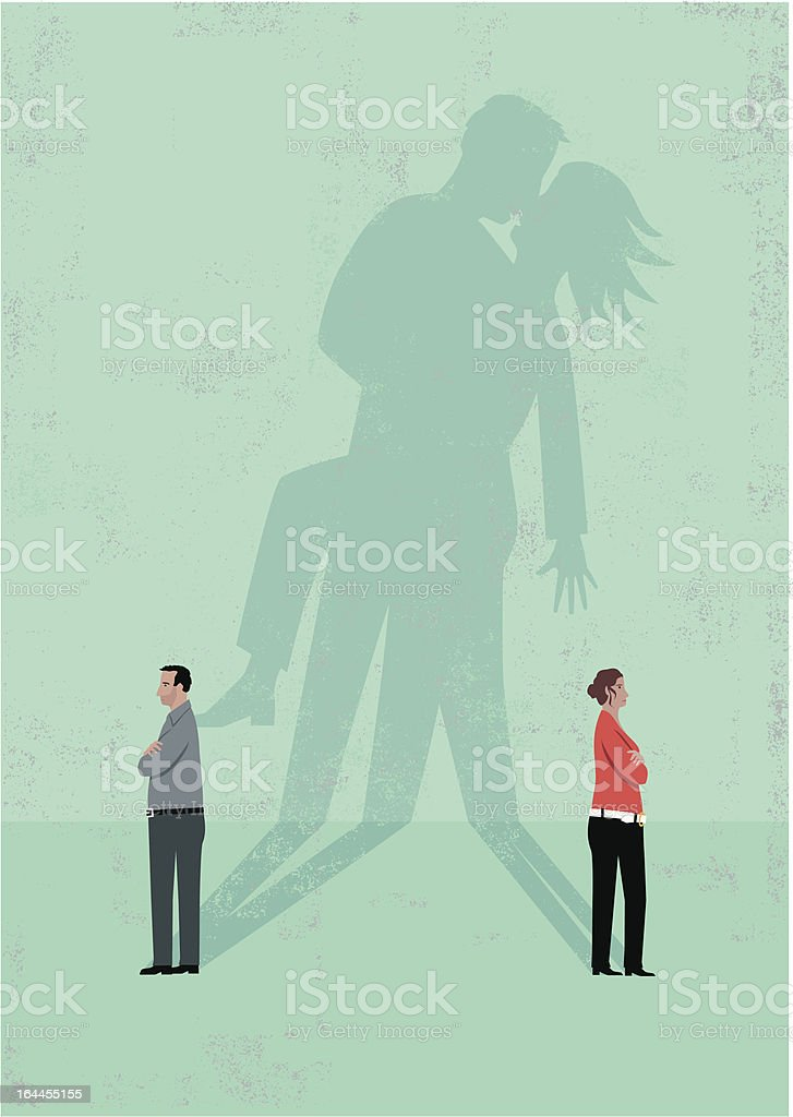 couple make up vector art illustration