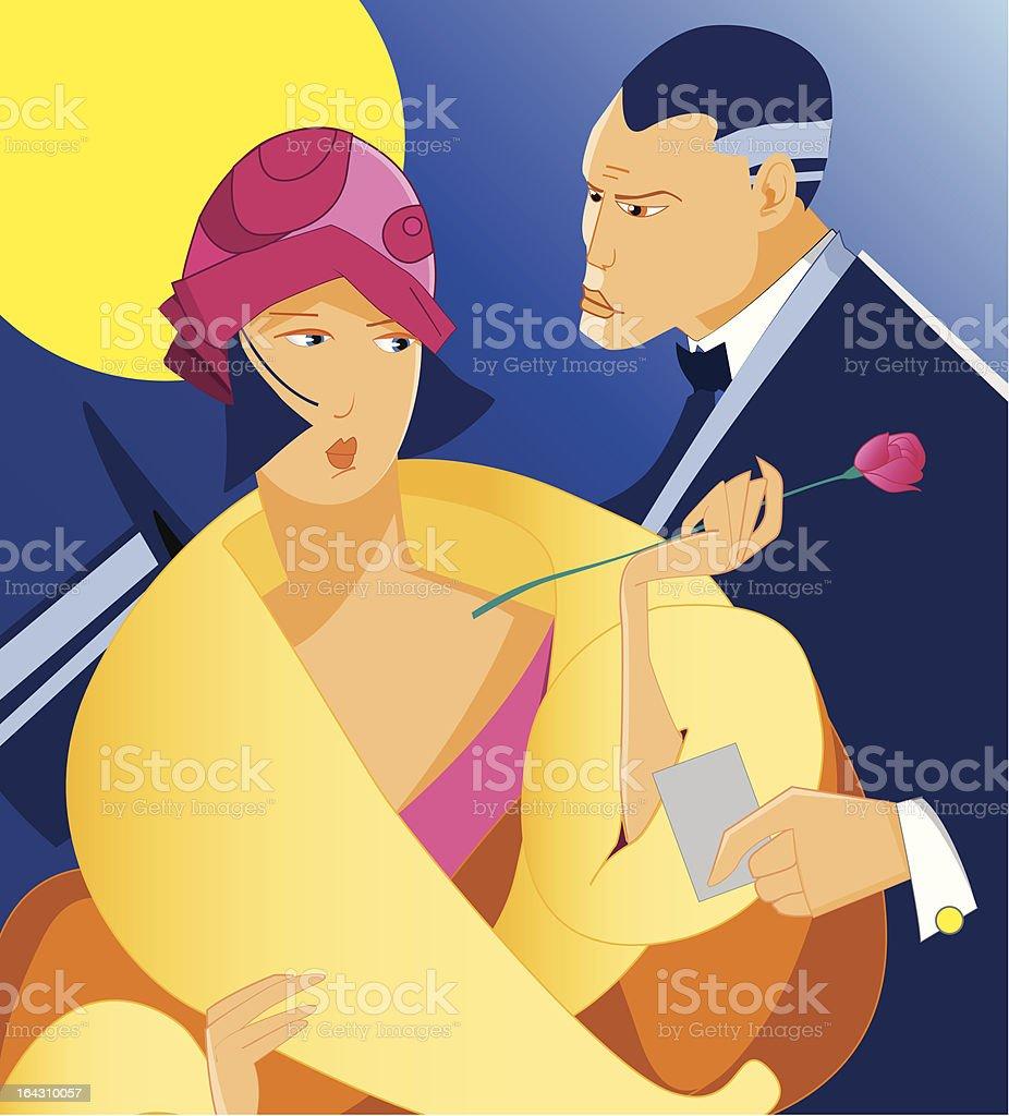 couple party vector art illustration