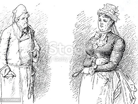 istock Couple portrait, elder man, young woman 1322088962