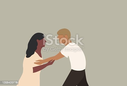 istock Couple relationship with Valentine's day 1205420778