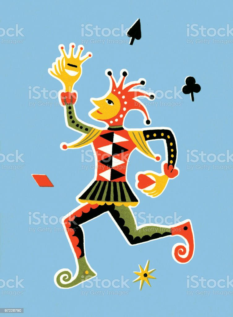 Court jester royalty-free stock vector art