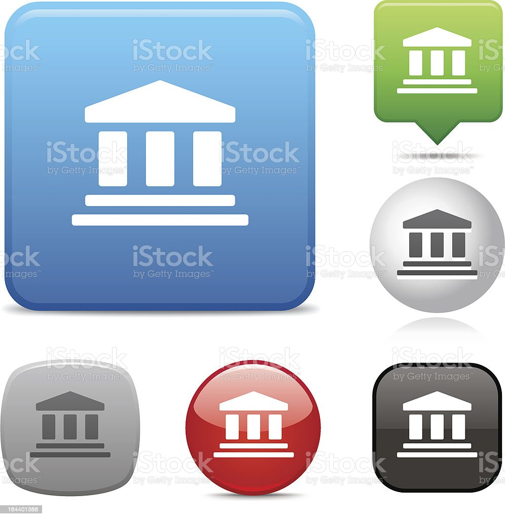Courthouse icon vector art illustration