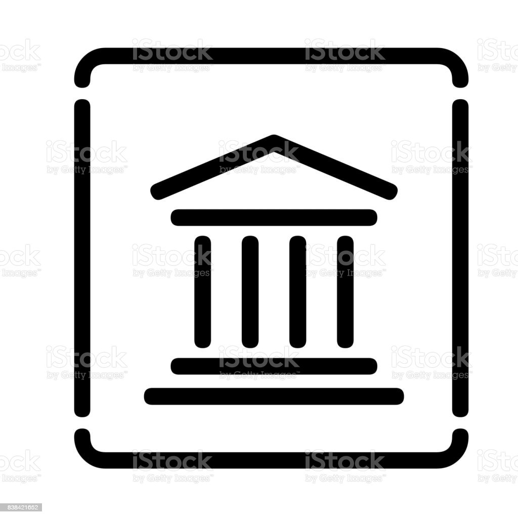 Courthouse symbol vector art illustration