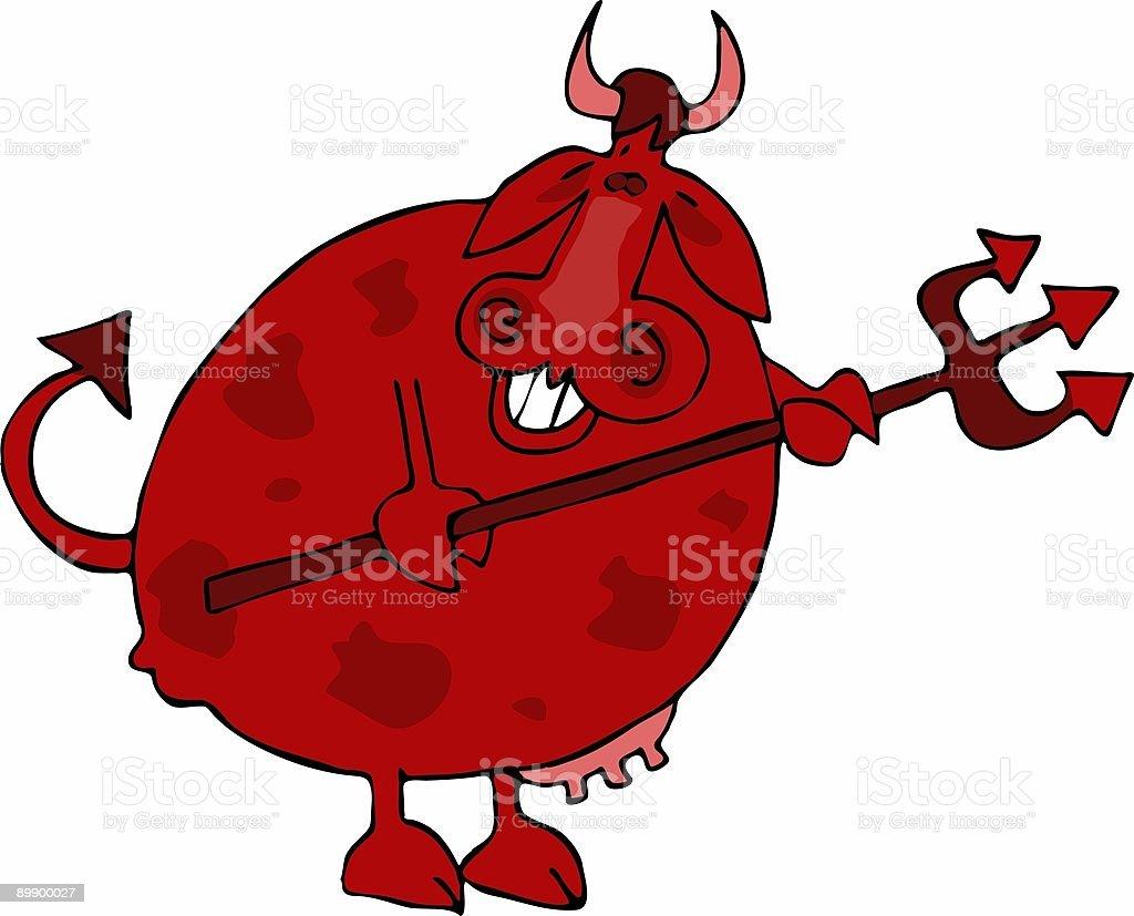 Корова Дьявол Корова Дьявол — стоковая векторная графика и другие изображения на тему Без людей Стоковая фотография