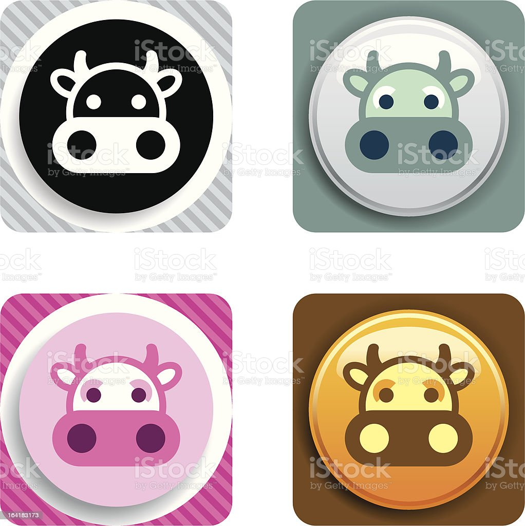 Cow Icon royalty-free cow icon stock vector art & more images of animal