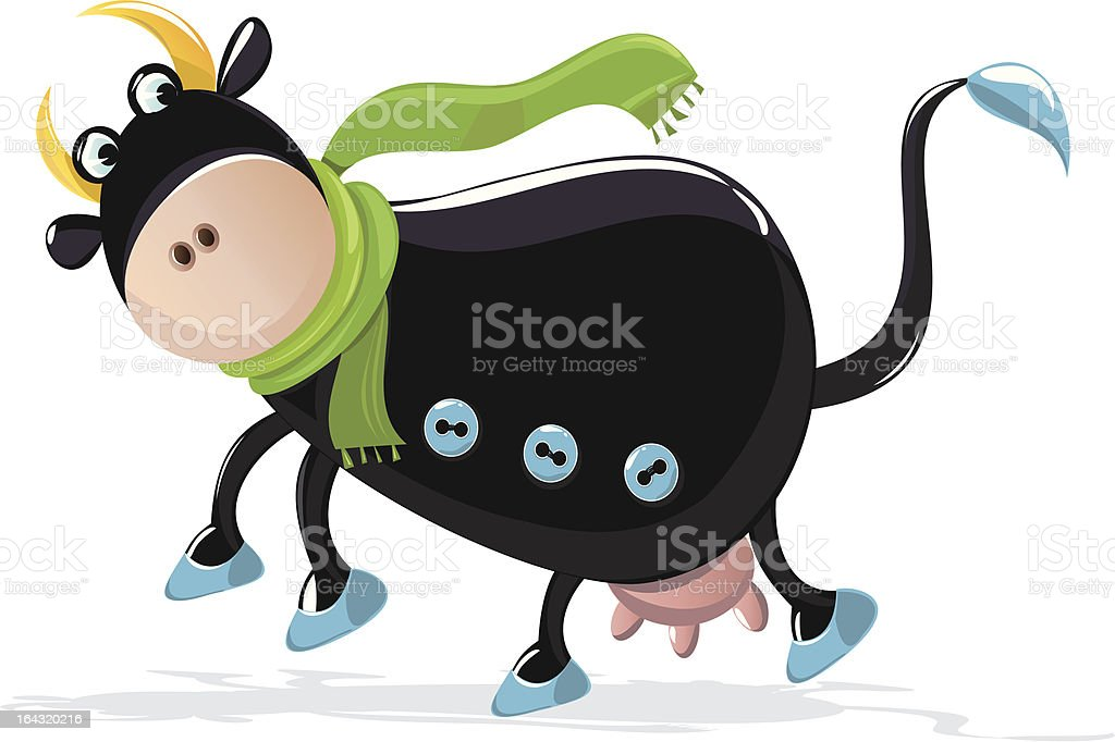 Cow in Scarf royalty-free cow in scarf stock vector art & more images of animal