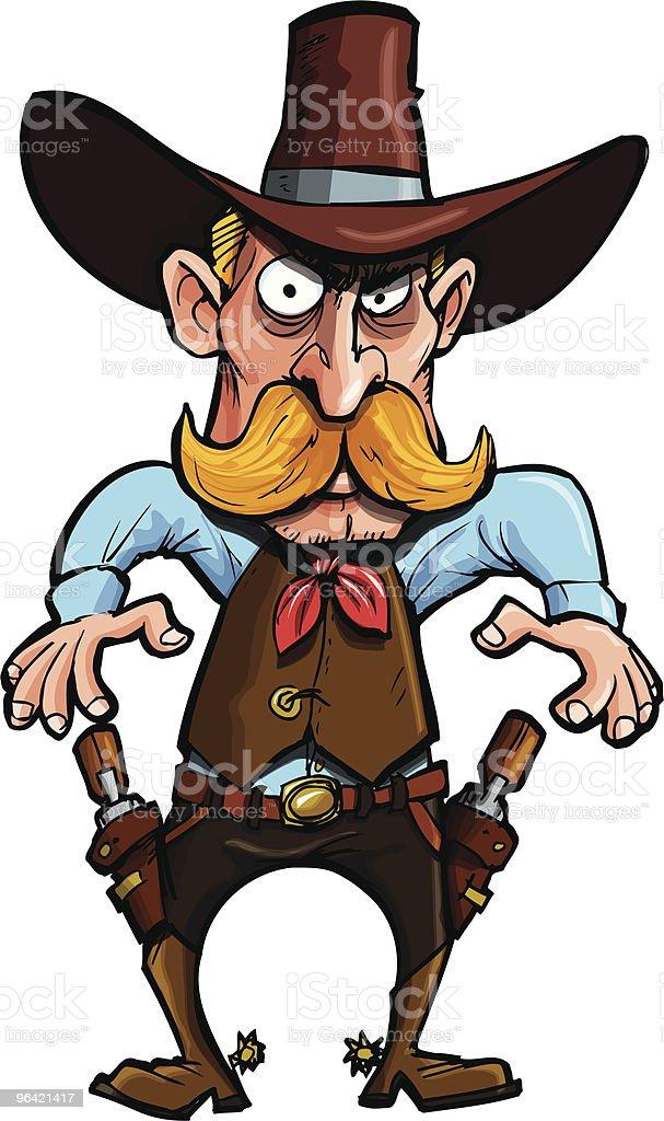 Cowboy über Seine Waffen Zu Ziehen Stock Vektor Art und mehr Bilder ...
