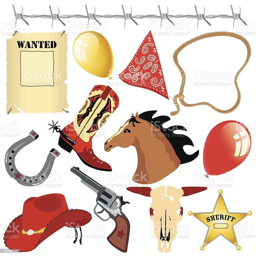 Cowboy birthday party clip art royalty-free cowboy birthday party clip art stock vector art & more images of animal skull