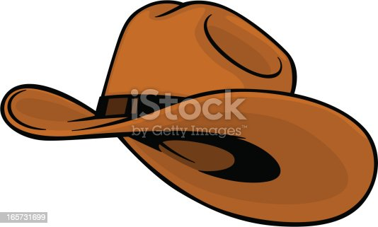 cartoon style cowboy hat
