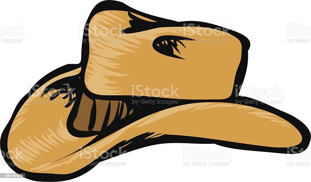 cowboy hat royalty-free stock vector art