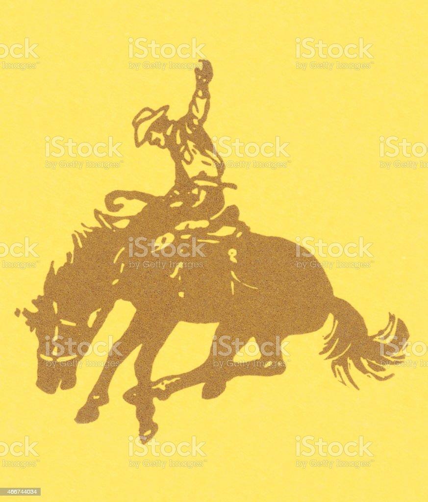 Cowboy vector art illustration