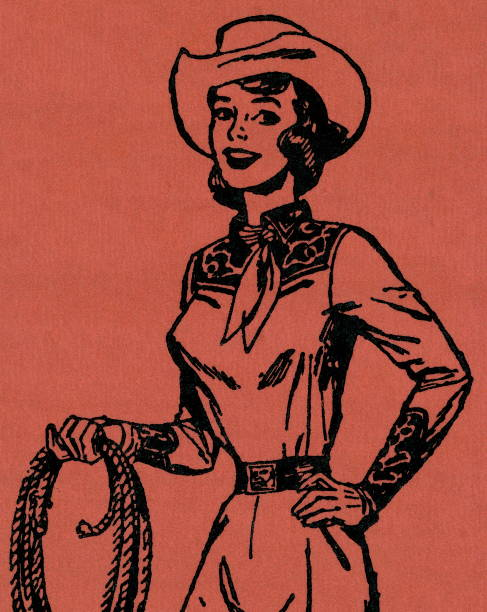 Cowgirl http://csaimages.com/images/istockprofile/csa_vector_dsp.jpg rancher illustrations stock illustrations