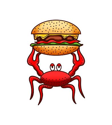 crab and hamburger