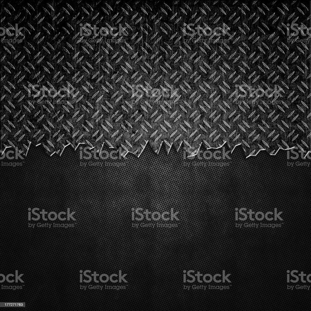 Cracked black metal background vector art illustration
