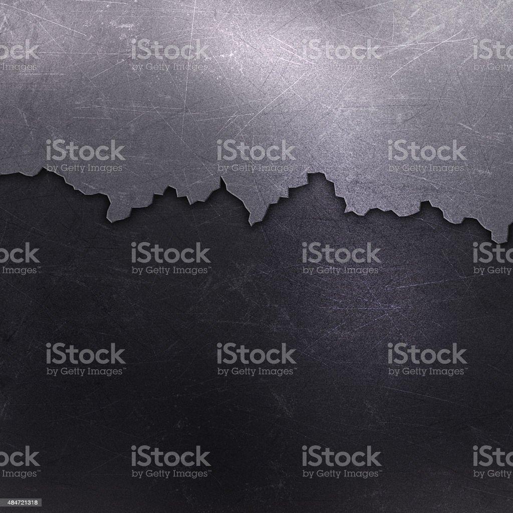Cracked metal background vector art illustration