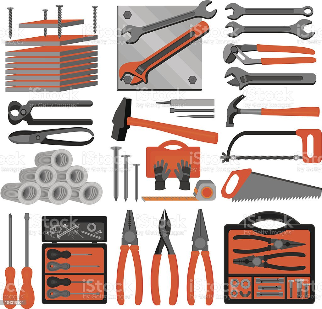 Craft icons – Hand tools (Set 5) royalty-free stock vector art