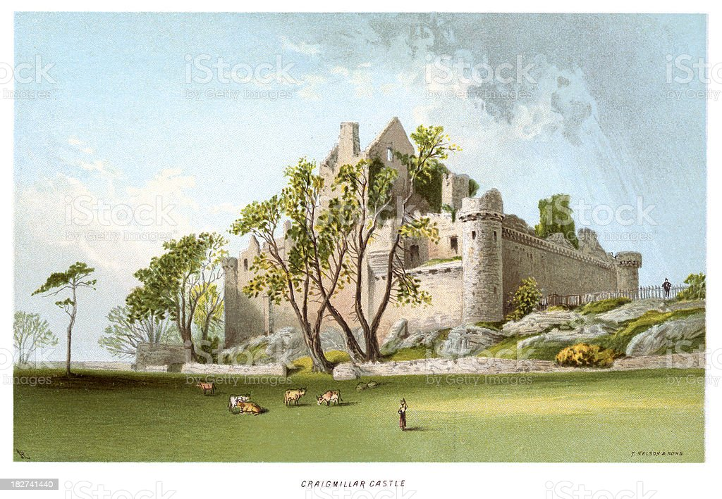 Craigmillar Castle royalty-free stock vector art