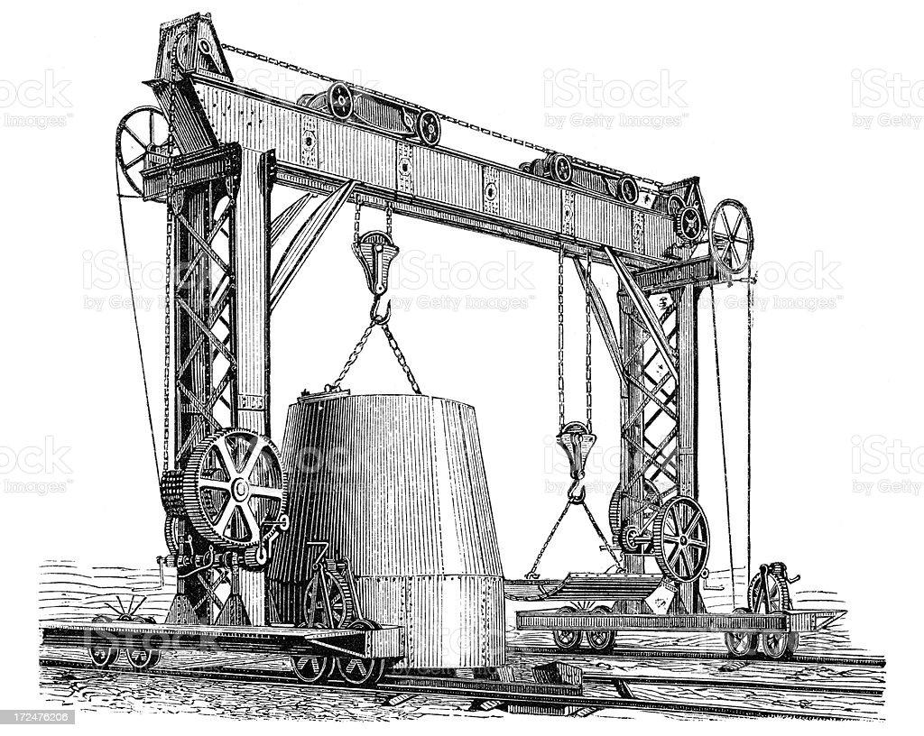 Crane derrick royalty-free stock vector art
