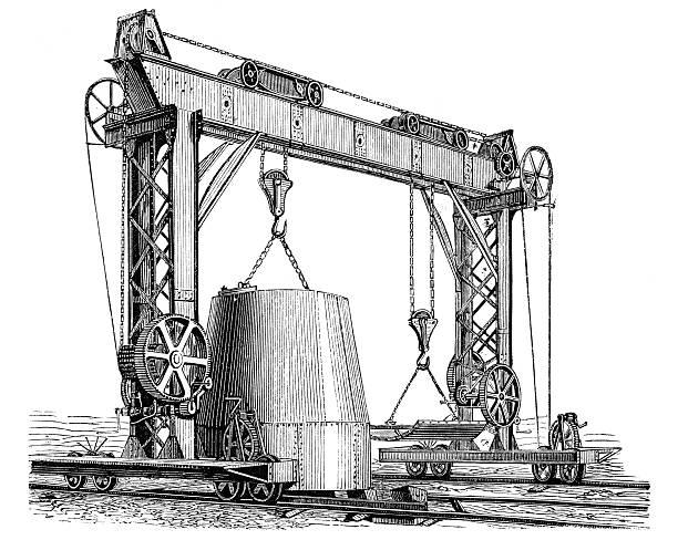 Crane Wheel Clip Art : Royalty free overhead crane clip art vector images