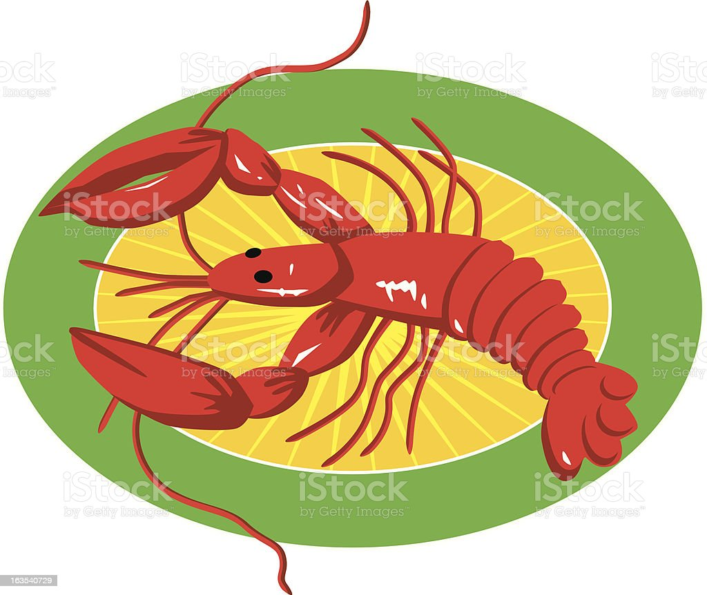 Crawfish royalty-free stock vector art