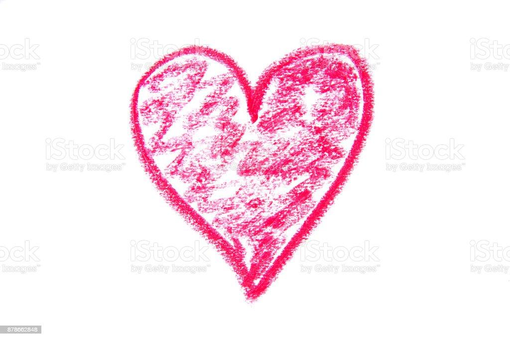 Pastel Boya çizim Kalp şekli Stok Vektör Sanatı Aşknin Daha Fazla