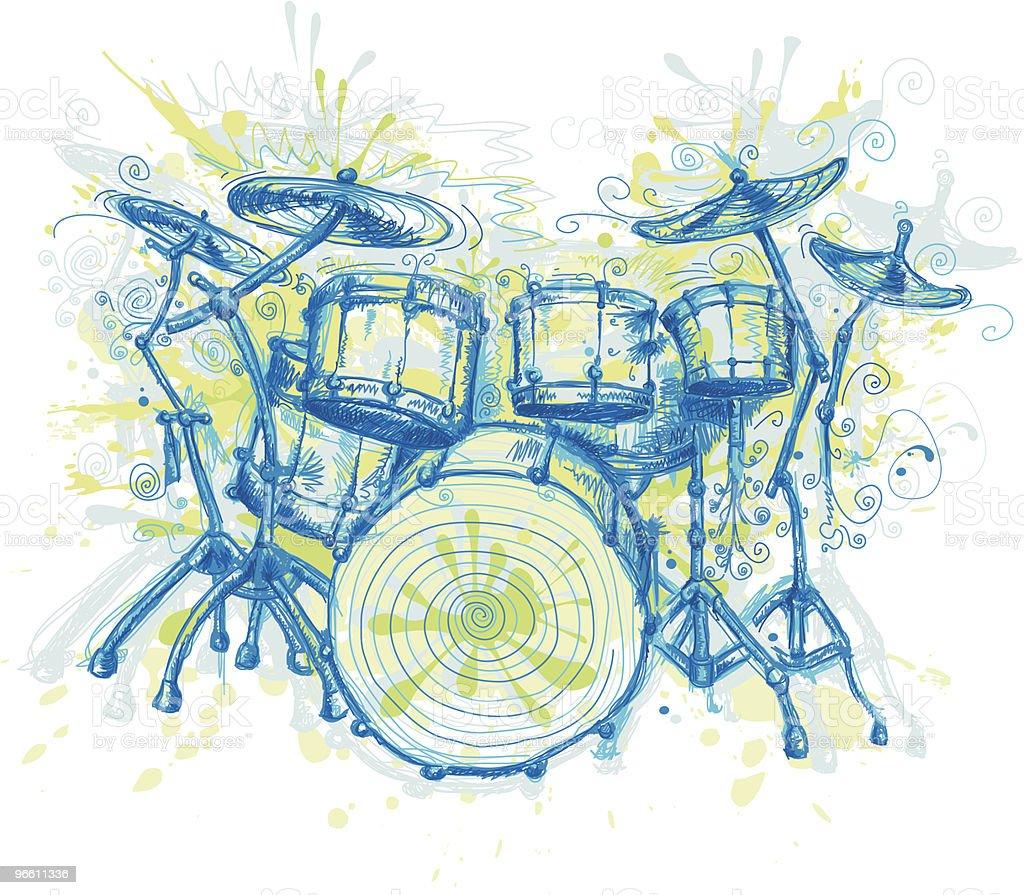 Crazy tambores - Royalty-free Arte, Cultura e Espetáculo arte vetorial