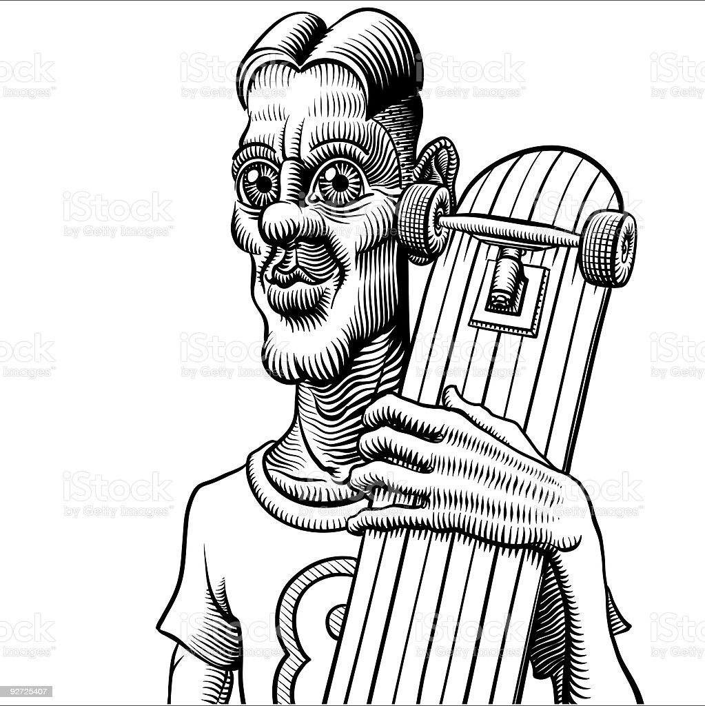 crazy little skateboard junger – Vektorgrafik