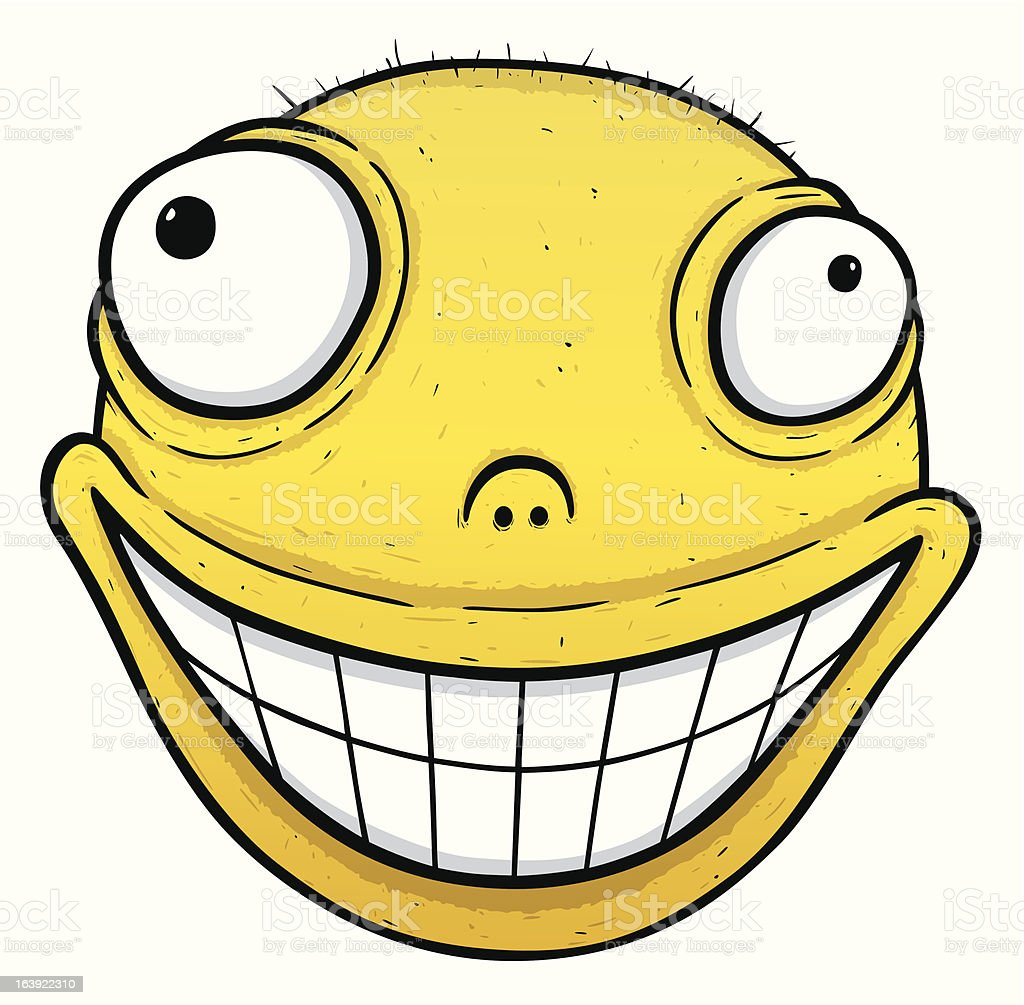 Crazy Smiley vector art illustration