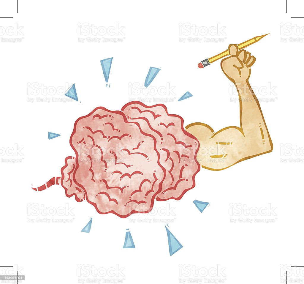 Creative Brain vector art illustration