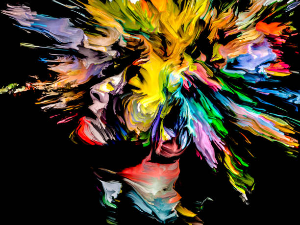 Creative Burst vector art illustration