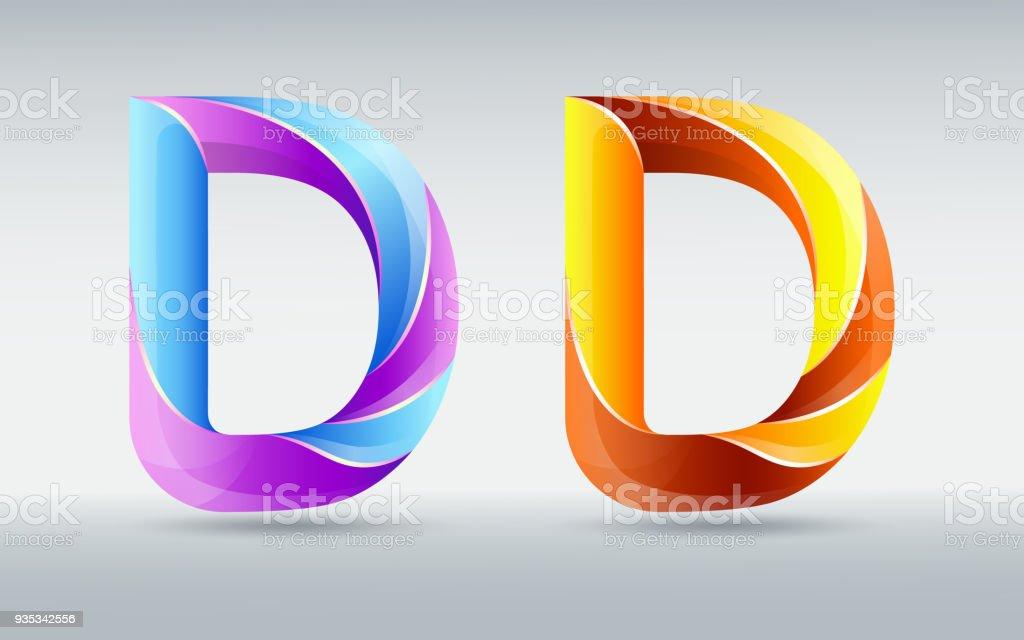 Kreative Verdrehte Buchstaben D Abstrakt 3d Schrift Karamell Und ...