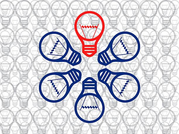 bildbanksillustrationer, clip art samt tecknat material och ikoner med creativity bulb idea - changing bulb led