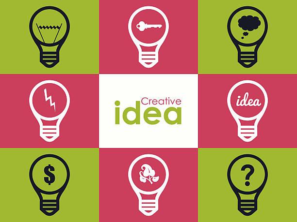 bildbanksillustrationer, clip art samt tecknat material och ikoner med creativity concept idea - changing bulb led