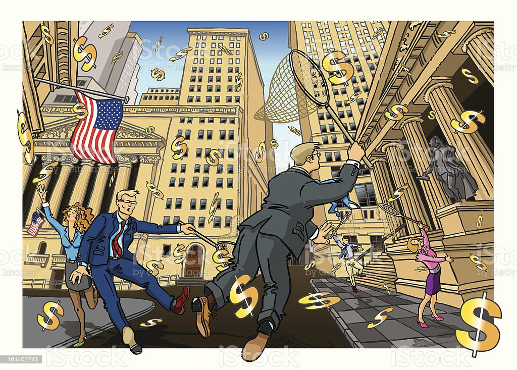 Credit Crunch USA royalty-free stock vector art