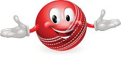 Cricket Ball Mascot