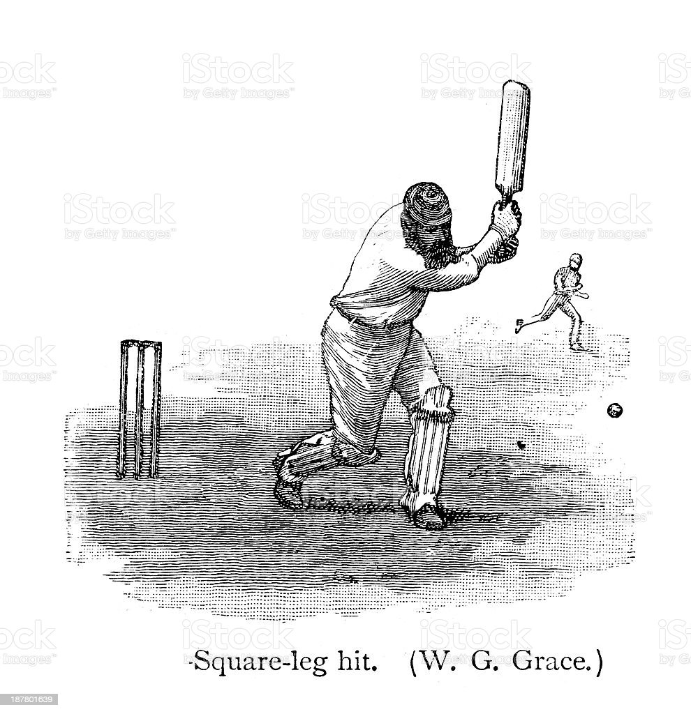 Cricket - Batsman royalty-free cricket batsman stock vector art & more images of 19th century