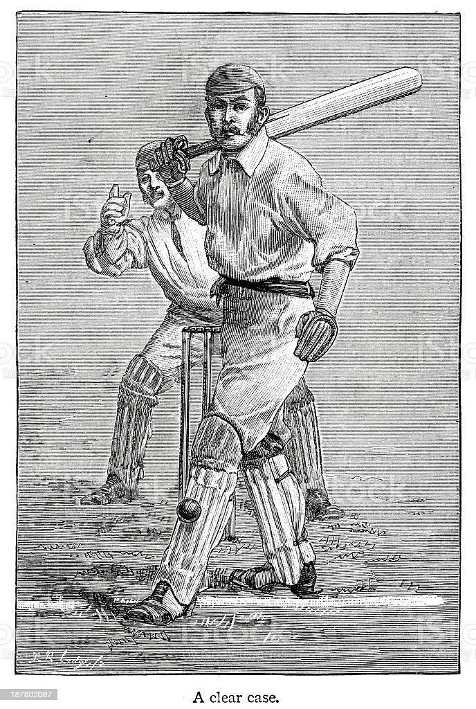 Cricket - Batsman royalty-free cricket batsman stock vector art & more images of 19th century