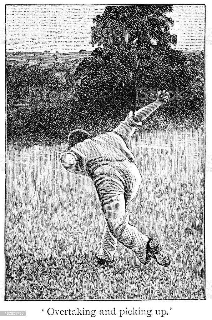 Cricket - Fielder royalty-free cricket fielder stock vector art & more images of 19th century