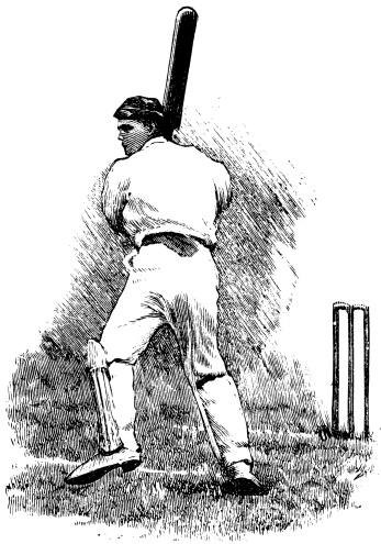 Cricket player | Antique Sport Illustrations
