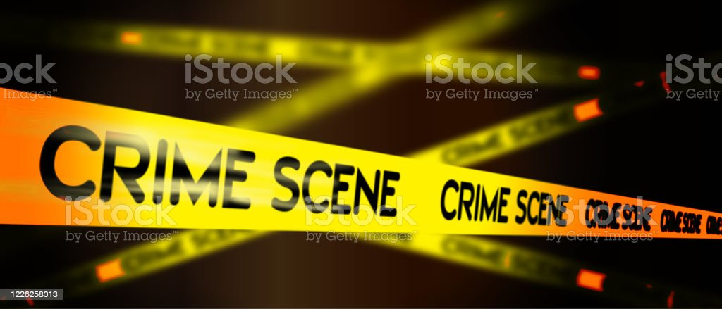 Crime Scene Do Not Cross Tape And Blurred Forensic Background Stock Illustration Download Image Now Istock