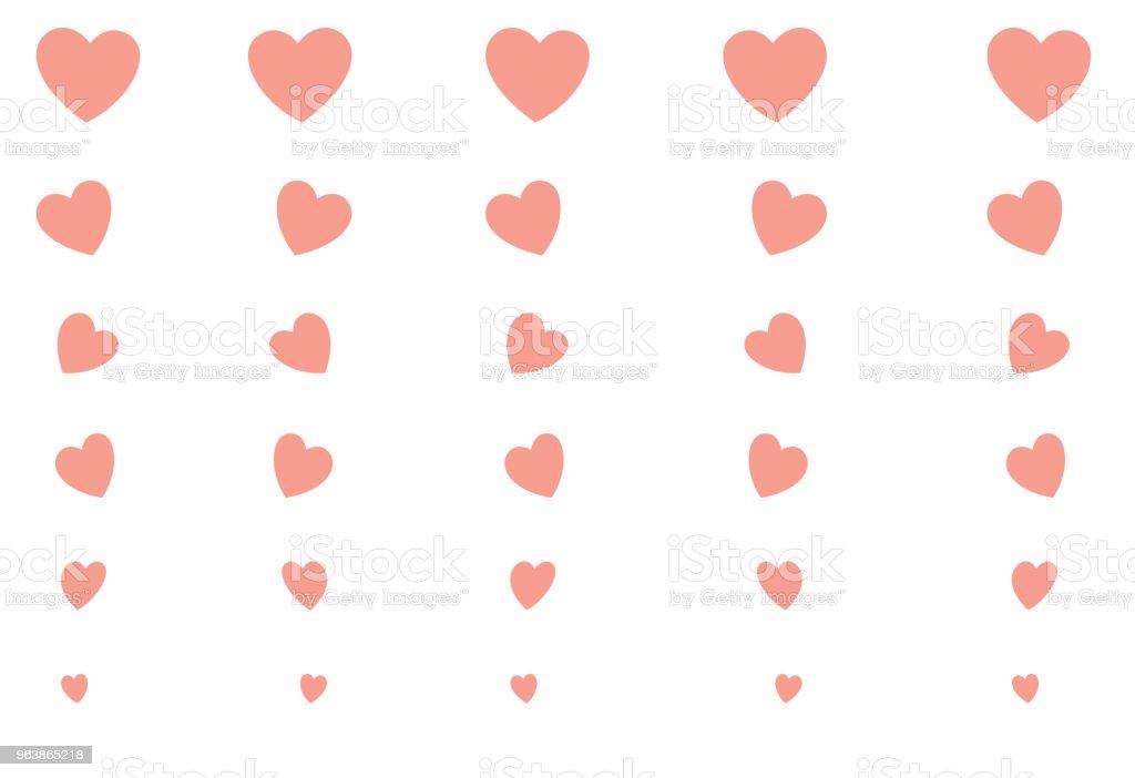 Crimson Pink Hearts On A White Background Big Small Invitation