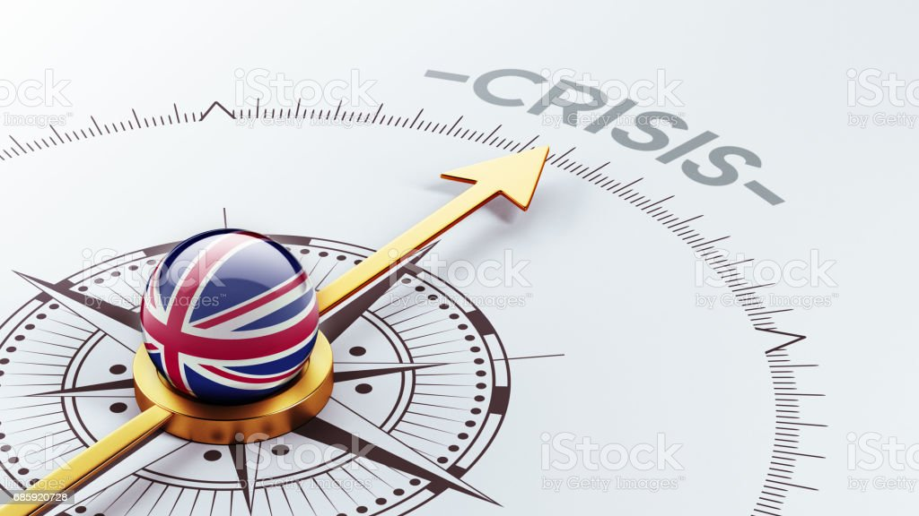Crisis Concept vector art illustration