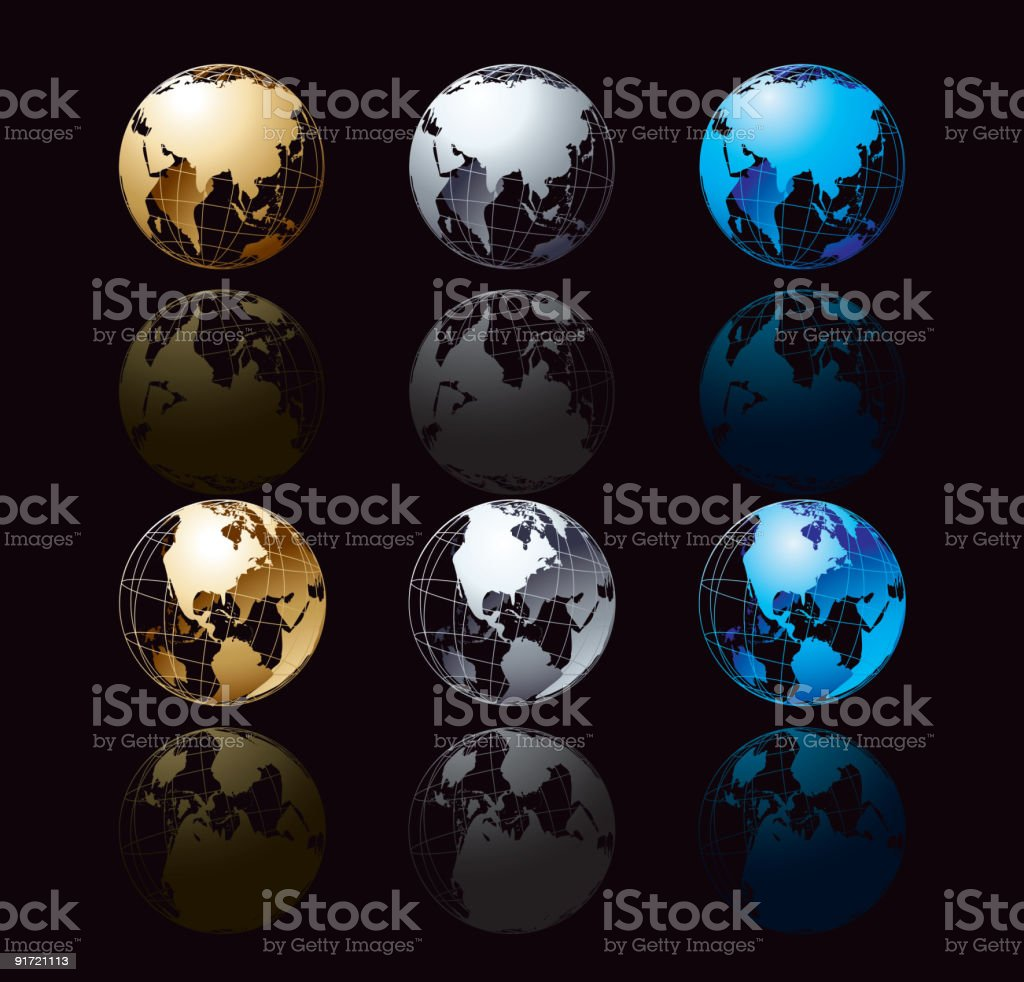 Cristall globe in black royalty-free cristall globe in black stock vector art & more images of abstract