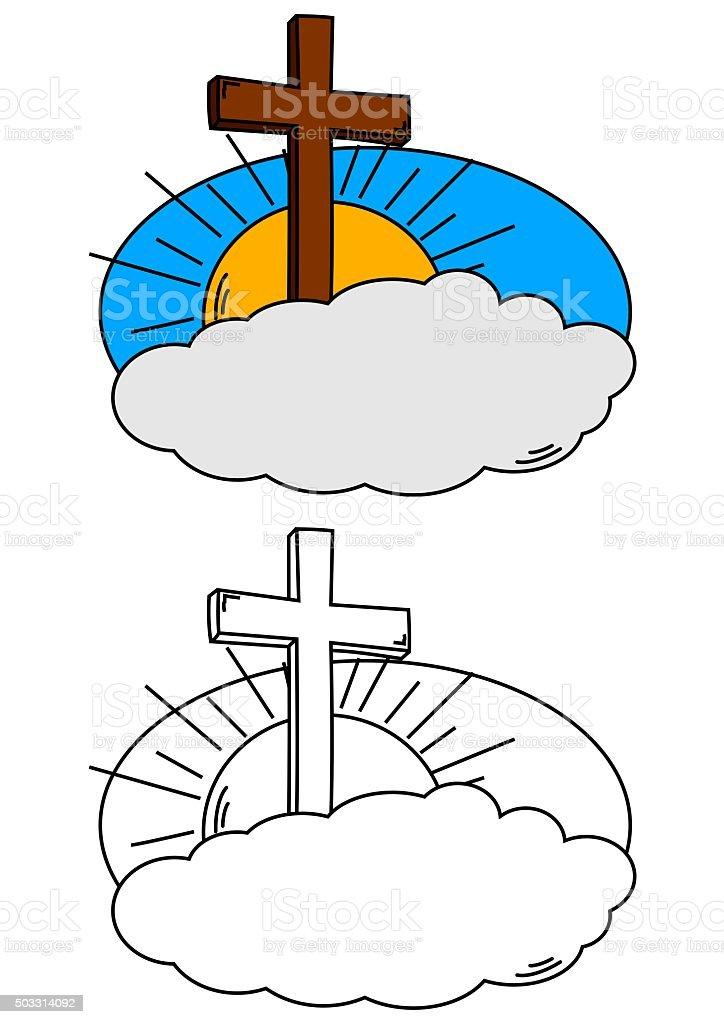 Sole E Nuvole Da Colorare