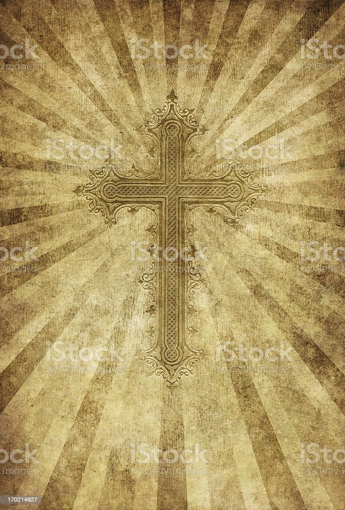 cross on grungy background royalty-free cross on grungy background stock vector art & more images of antique