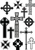 istock Cross silhouettes 165635037