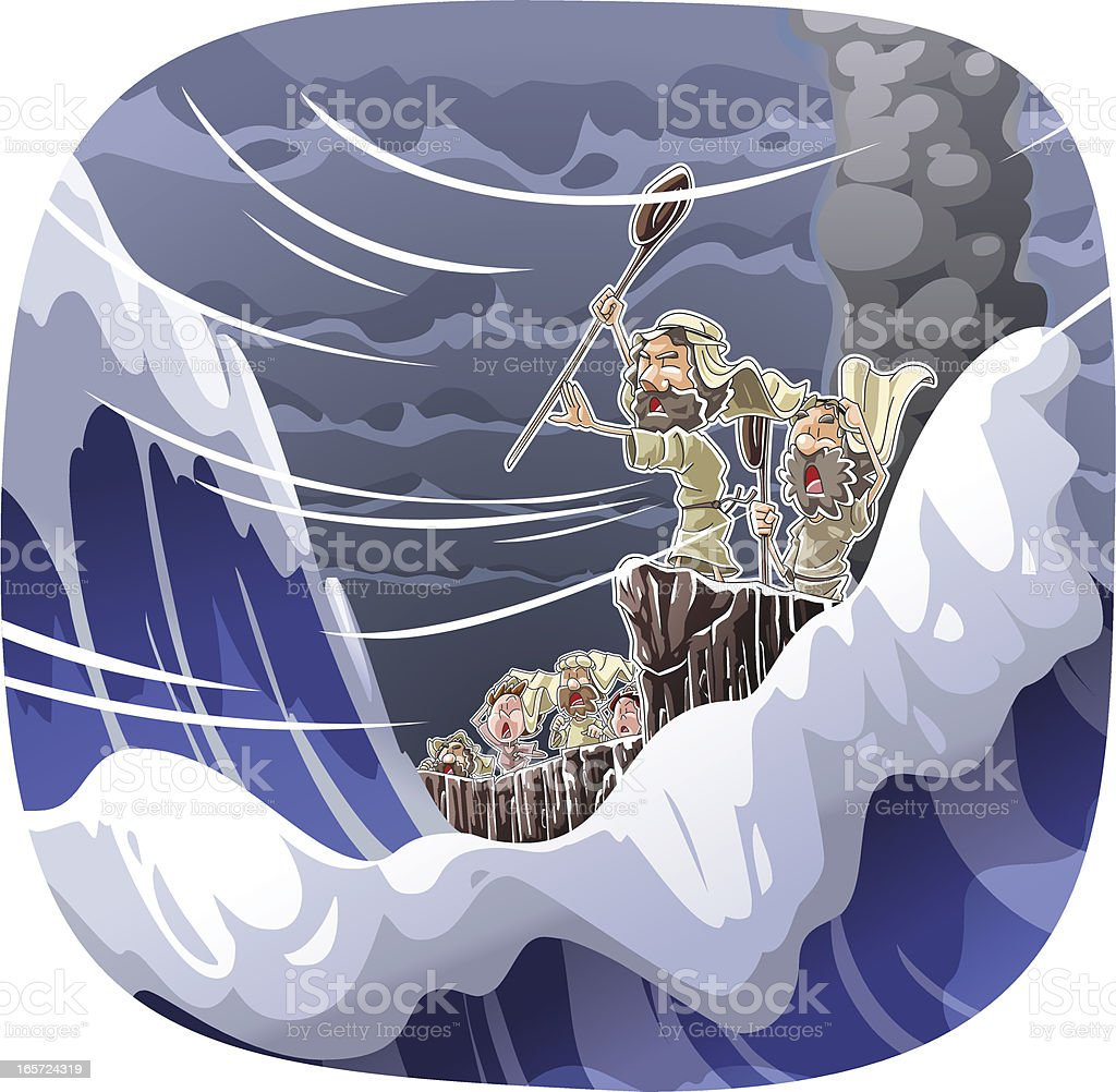Crossing the Reed Sea royalty-free crossing the reed sea stock vector art & more images of bible