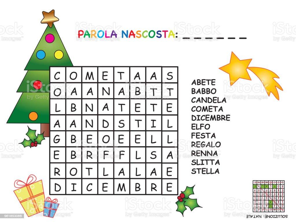 Christmas In Italy Crossword.Crossword In Italian Stock Illustration Download Image Now Istock