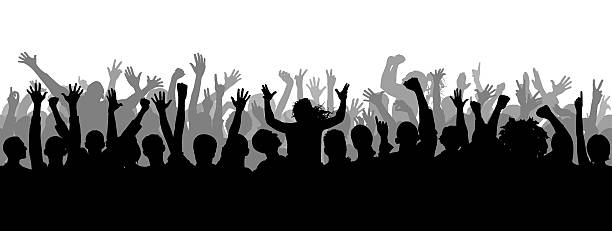 Best Concert Crowd Illustrations, Royalty-Free Vector ...