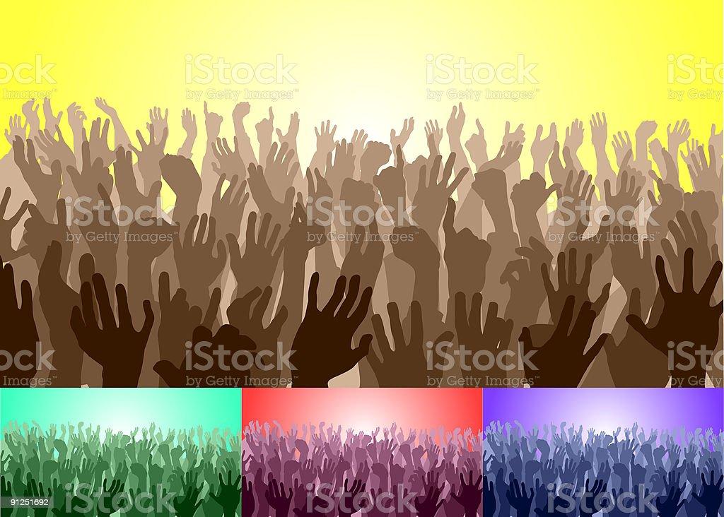 Crowd vector art illustration